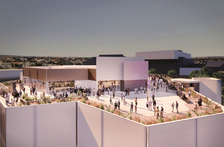 Artist Impression Of Elevate Rooftop