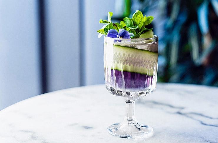 edible glitter martini
