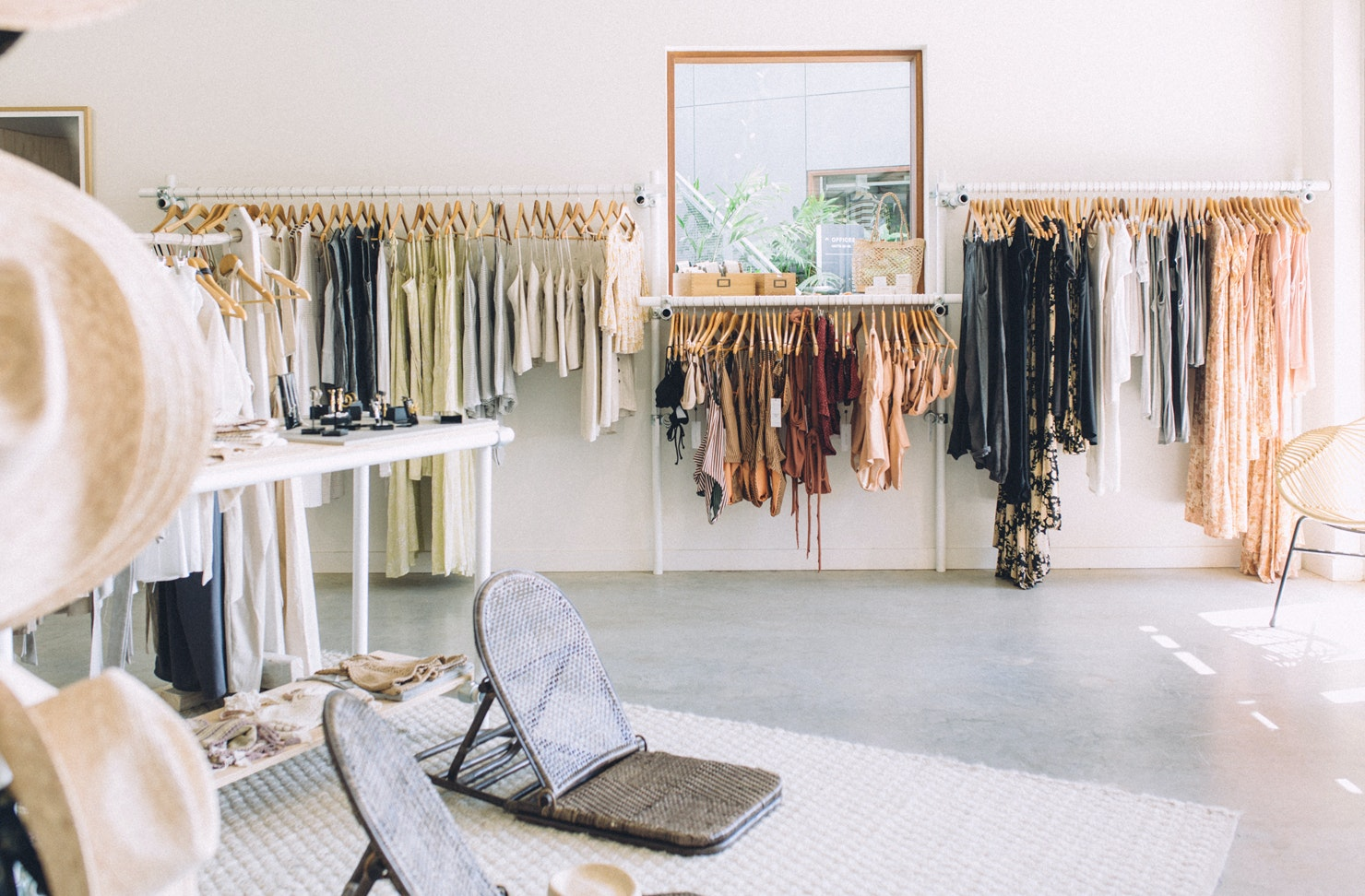 The Interior of Habitat Collective homewares store in Byron Bay.
