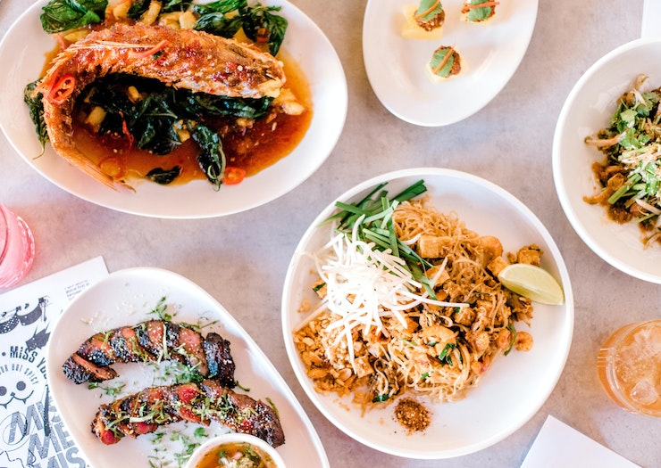 A spread of South-East Asian dishes at Miss Mee on the Gold Coast.