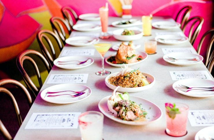 A lavish spread of South-East Asian dishes at Miss Mee on the Gold Coast.