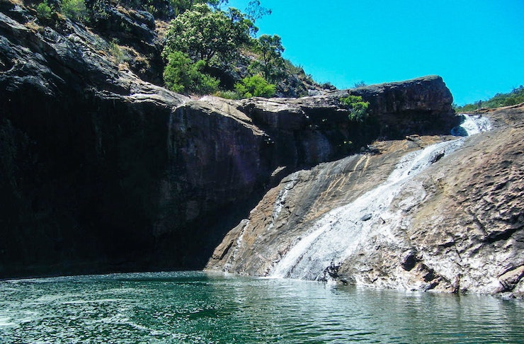 Serpentine Falls on a sunny day