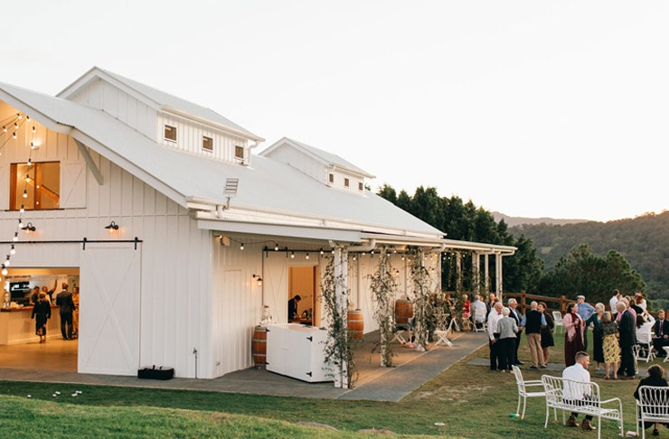 Summergrove Estate features a white weatherboard chapel on a sprawling property in the northern NSW hinterland