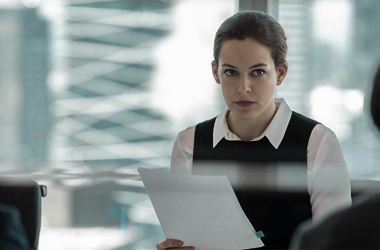 Riley Keough as Christine Reid in Steven Soderbergh's The Girlfriend Experience
