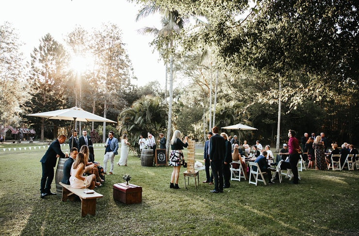A beautiful outdoor wedding on a lush property in Mudgeeraba.