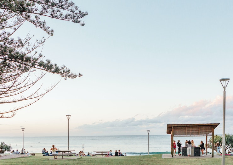 The park overlooking Main Beach in Byron Bay.