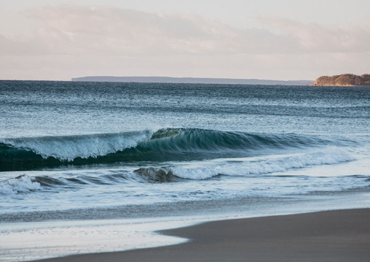 The surf at Seven Mile Beach.