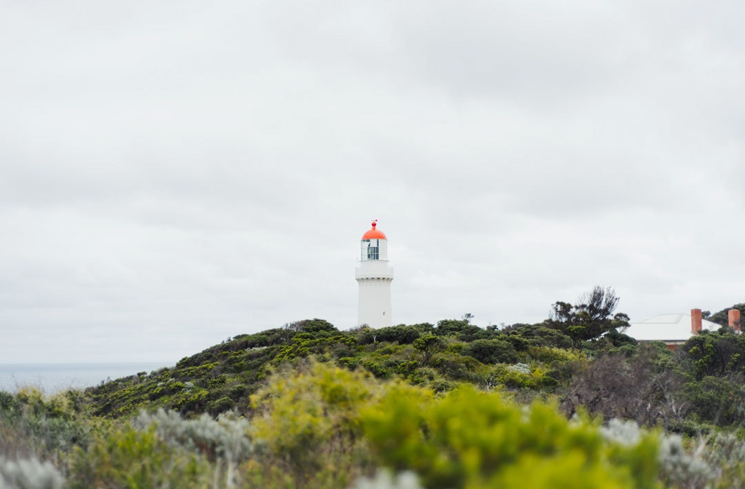 The Cape Schanck Lighthouse which looks over Bass Strait on the Victorian coast.