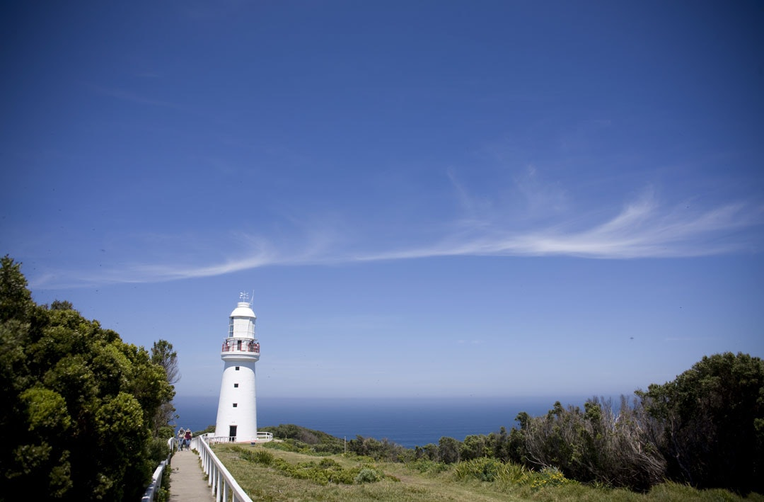 The Cape Otway Lighthouse on Victoria's Shipwreck Coast.