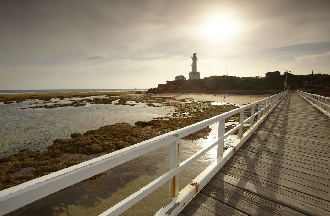 The lighthouse in Queenscliff, Victoria.
