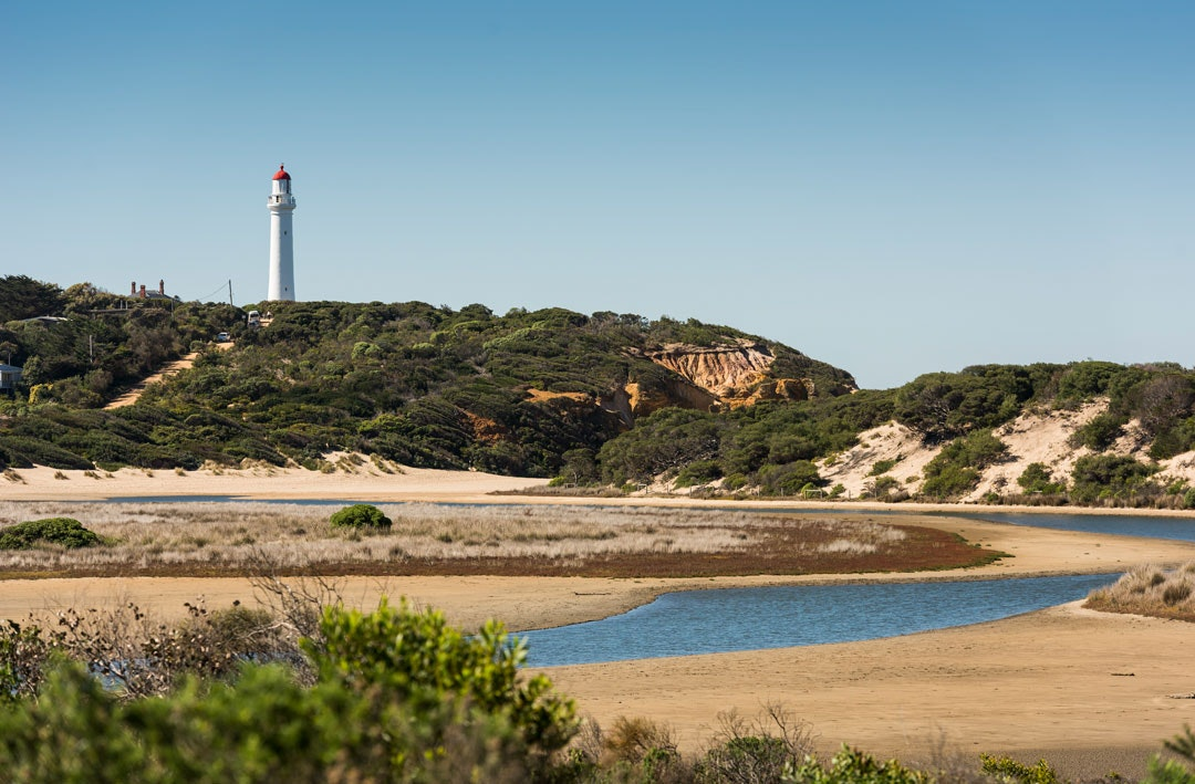 The Split Point Lighthouse in Aireys Inlet, Victoria.