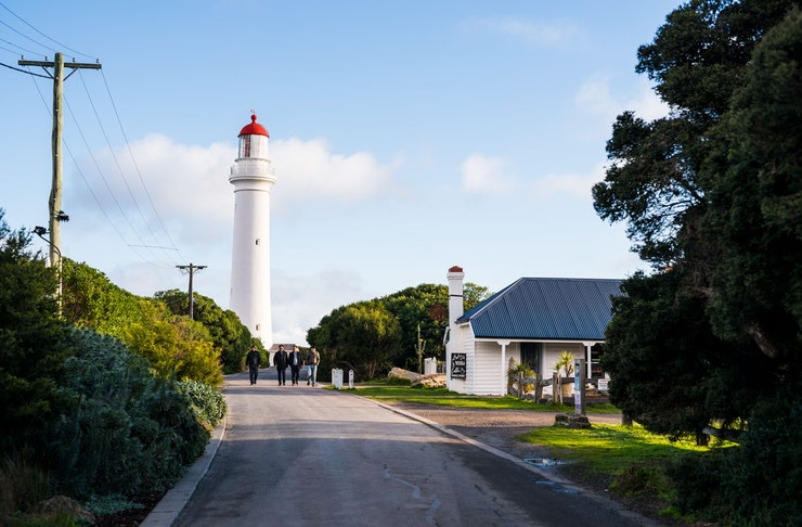 The Split Point Lighthouse on Victoria's Shipwreck Coast.
