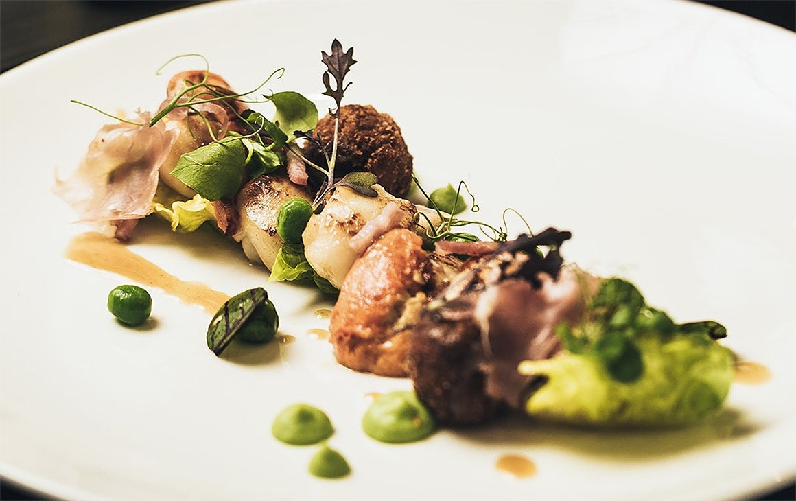 An artfully plated meal at Botswana Butchery