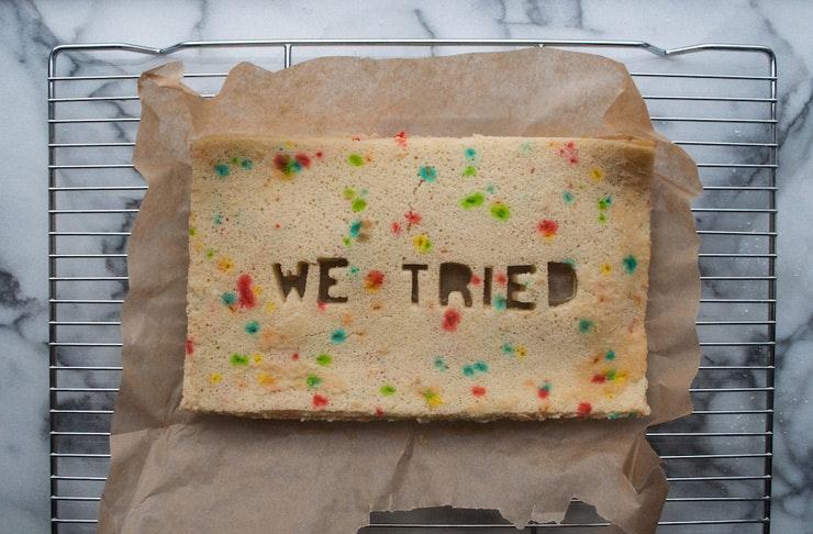 break up cake