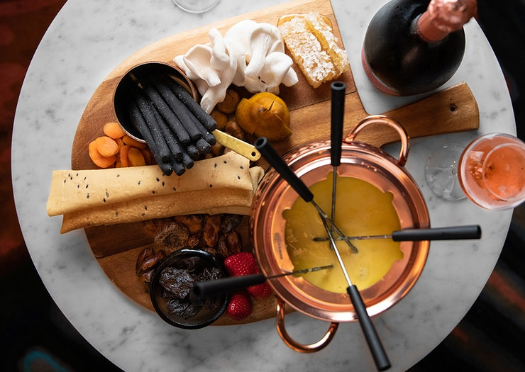 Get A Crew Together For This Insanely Decadent Triple Cream Brie Cheese Fondue