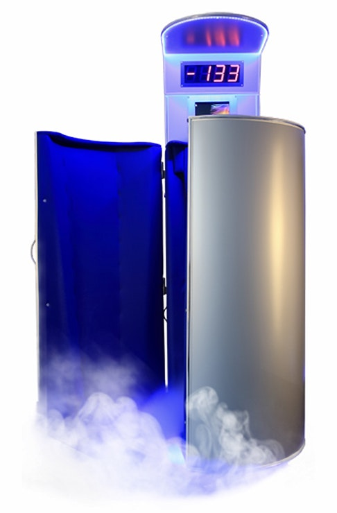 A cryotherapy pod