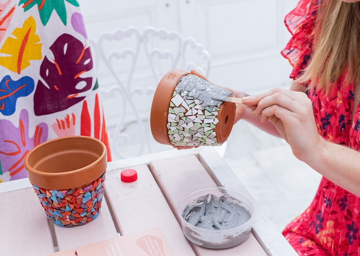 Get Your Craft On With These Home-Delivered DIY Mosaic Terracotta Pot Kits