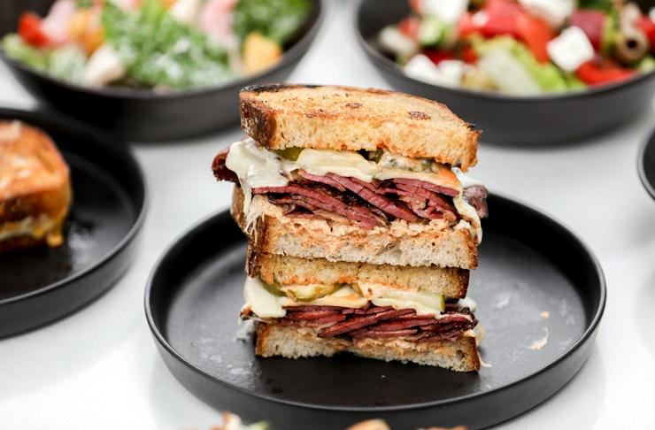 reuben sandwich from the emerson
