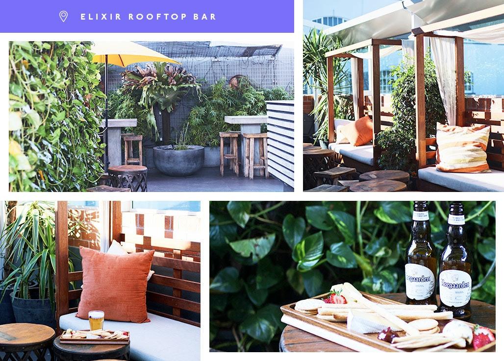 hoegaarden, elixir rooftop bar