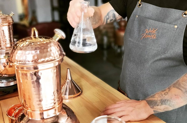 A gin masterclass in action at Gold Coast distillery, Wildflower Gin.