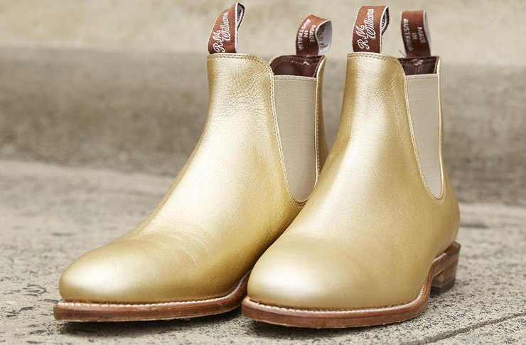 gold adelaide yearling r.m. williams boots