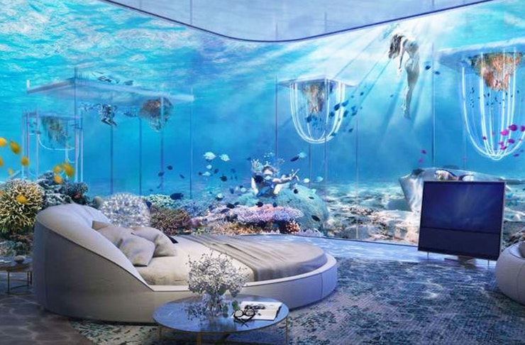 Guys, You Can Now Stay In A Floating Underwater Resort!