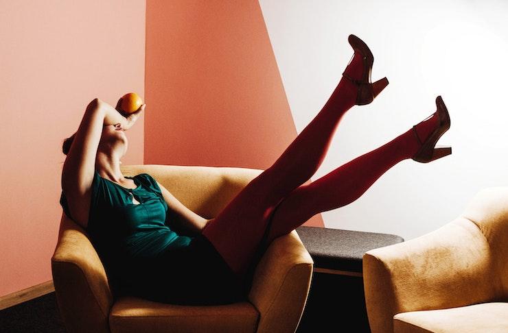 coloured tights fashion trend