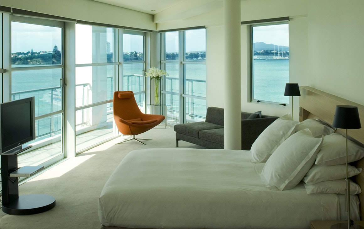 A room at The Hilton Hotel, one of the best hotels in Auckland.