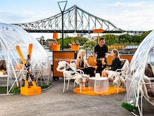 Nibble On Baked Brie In These Beautiful Pop-Up Igloo Bars Overlooking The Story Bridge