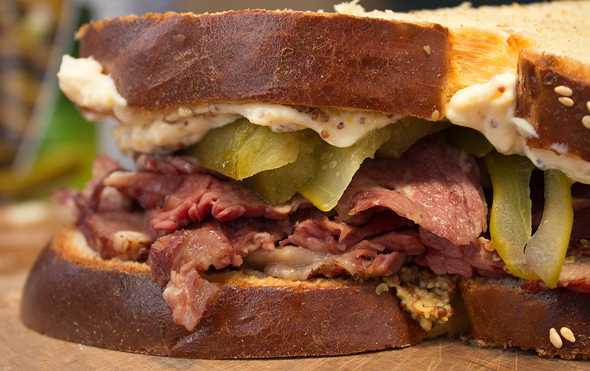 A delicious-looking pastrami sandwich by Yael Shochat