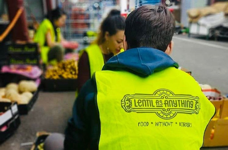 Lentil As Anything volunteers pack food for vulnerable Australians.