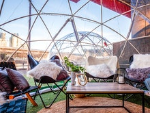 Level Up Your Social Distancing With Drinks And Dinner Inside A Private Igloo