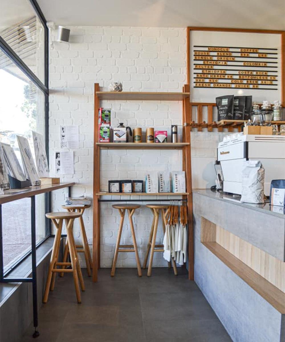 Interior of Monocle Coffee