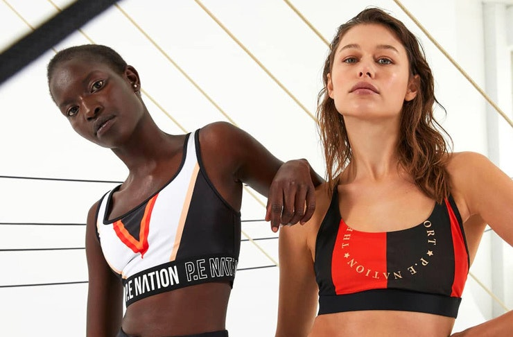 Models wear P.E Nation activewear from the end of season sale edit.