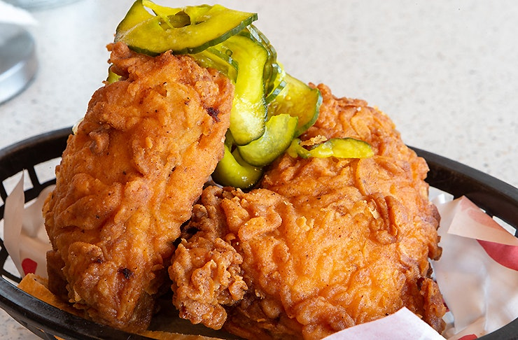 Delicious looking chicken from Peach's Hot chicken