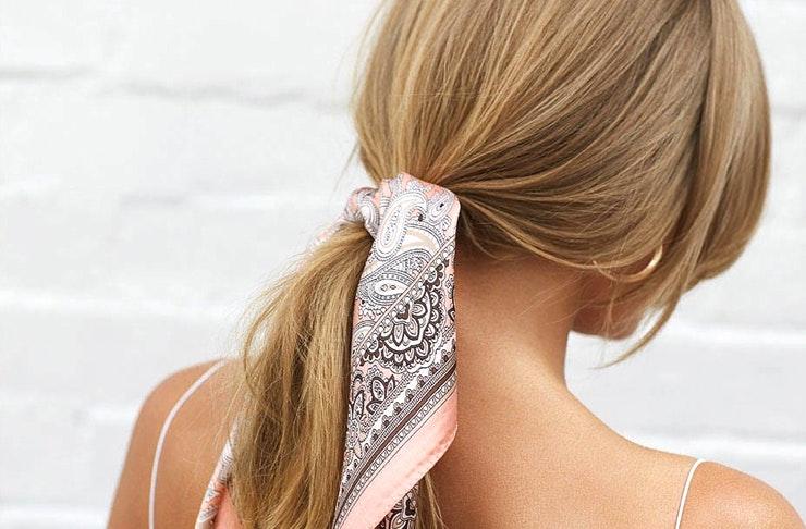 ponytail scarf