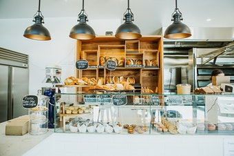 The beautiful interior of Noosa bakery, Ricks.