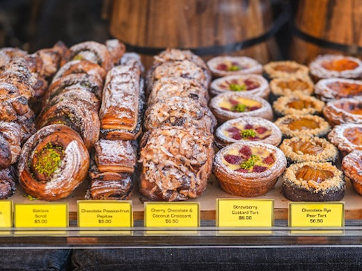 A table filled with different kinds of pastries