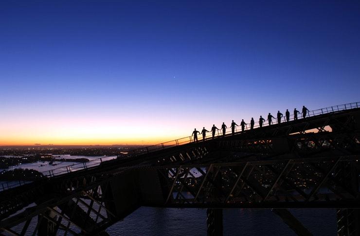 Sydney Bridge Climb Sunset