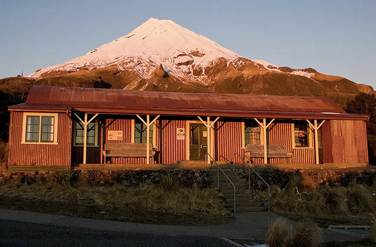 The Historic North Egmont Camphouse in Egmont National Park.