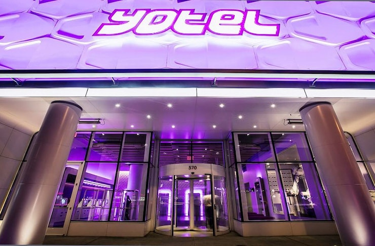The entrance to an overseas Yotel.