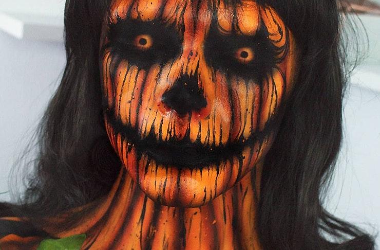 Zorin Blitz as a creepy pumpkin