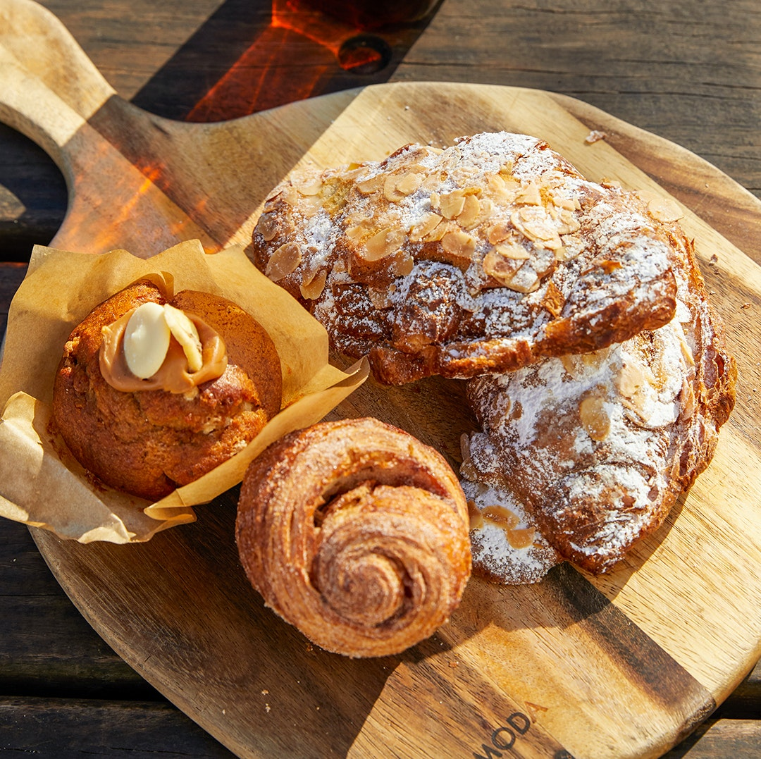 baked goods laid on wooden table from glenbrook's iconic 2773 cafe