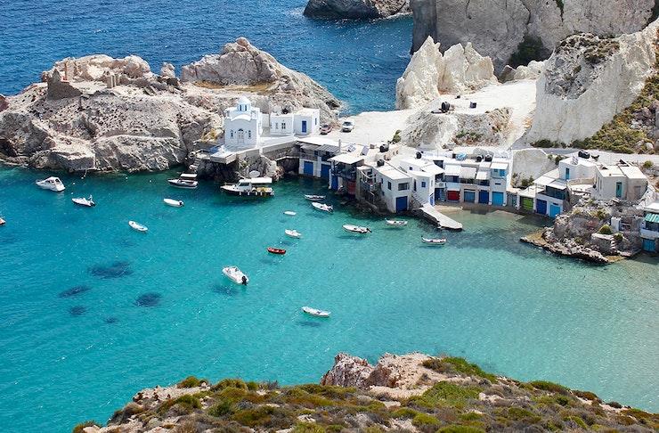 milos greek islands