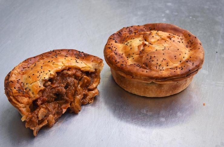 bourke street bakery pie cut in half