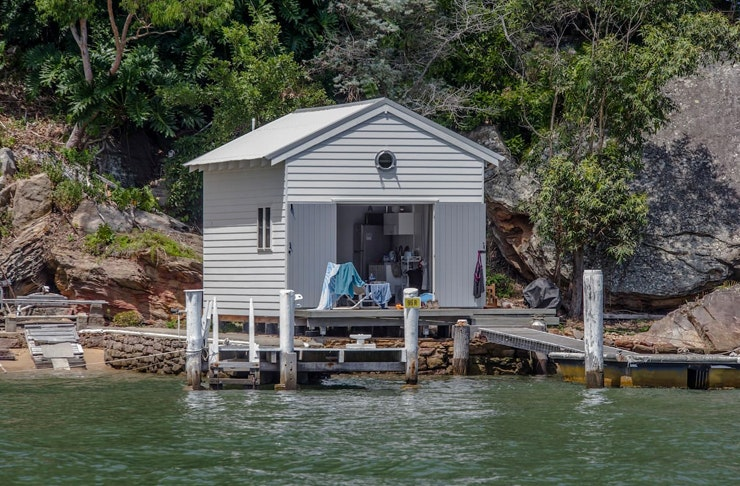 little beach shack on the water