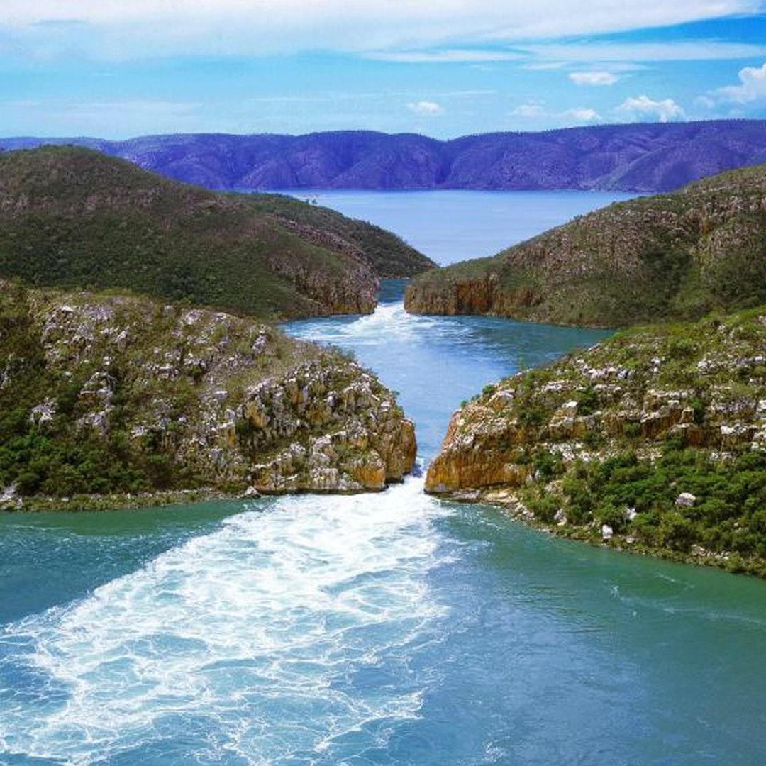 natural wonder horizontal falls in western australia