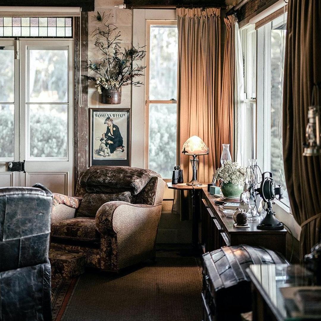 corner room of kookawood blue mountains — rustic aesthetic