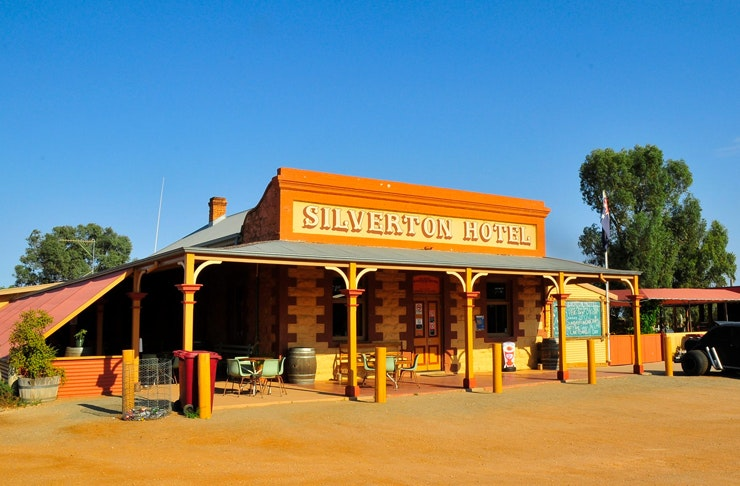 facade of silverton hotel in NSW outback