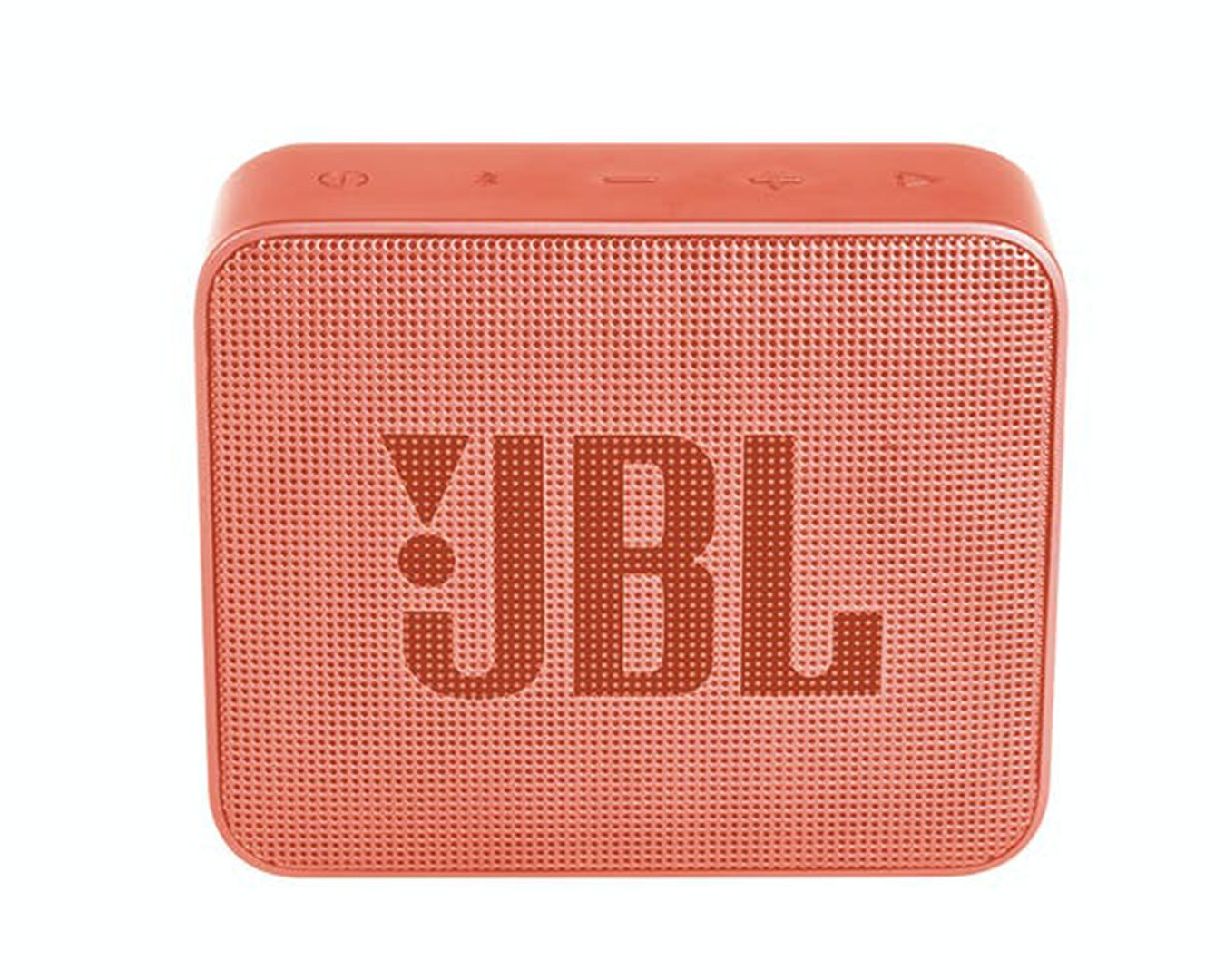 a coral pink portable speaker.